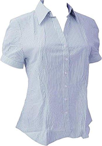 Brook Taverner–Pescara de manga corta blusa blanco