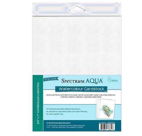 Spectrum Aqua Watercolor Cardstock 300gsm 8-Sheets 8.5x11 by Spectrum Noir