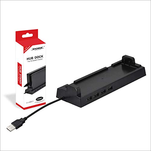 Dobe Switch 4 Port USB Hub Vertical Stand Dock for Nintendo Swich Console by G-Dreamer