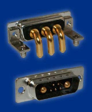 D-Sub Mixed Contact Connectors STD POWER-D 7W2 40A R/A MALE