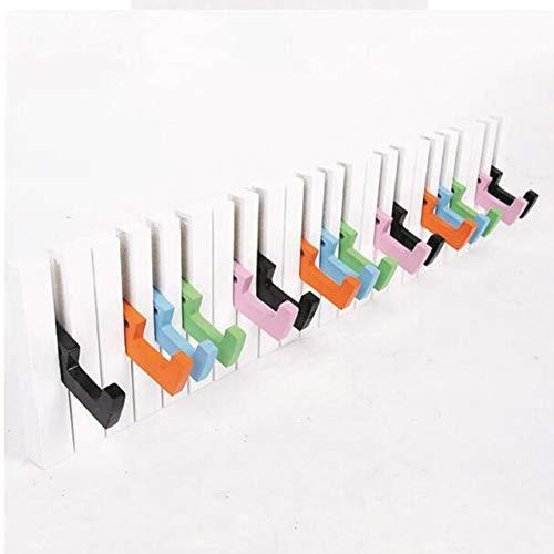 XUERUI Shelves Shelf Piano Shape Hook Coat Rack Wall Hanging Rack Creative Bedroom Porch Shelf Key After Entering The Door Shelf Wall Hanger Multifunction Storage Unit (Color : A, Size : 60x15x4cm)