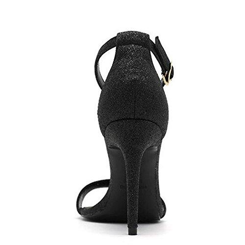 Xl Estive Alto Black Yxlong Tacco Tonda Open Testa Moda Con Col A Di Scarpe Un Bottone Nuovi Sandali Donna Da toe Fibbia ppSP16rgcf