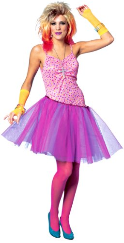 80's Glam Rock Star Diva Costume - Adult Std. ()