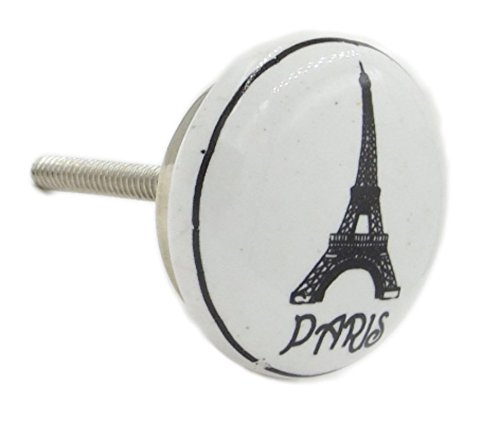 Paris Eiffel Tower Ceramic Dresser Knobs Pulls for Drawers,