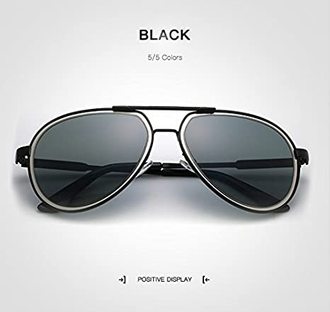 JiaCH Retro Pilot Sunglass, Hombres Gafas de Sol polarizadas con Espejo Gafas de Sol para