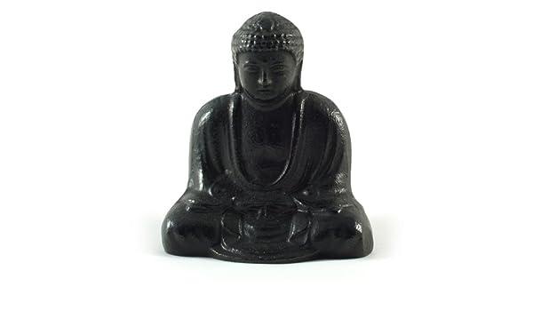 Solid Cast Iron Japanese Buddha Statue in Zen Posture
