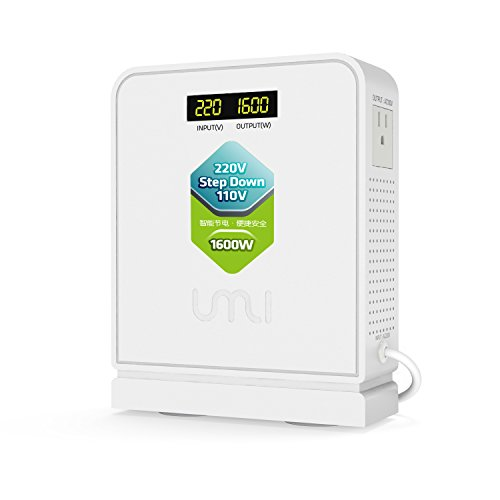 100v Output Transformer - UMI 220V to 110V Step Down Voltage Converter 1600Watts Capacity with 2 Output in 110V and 100V