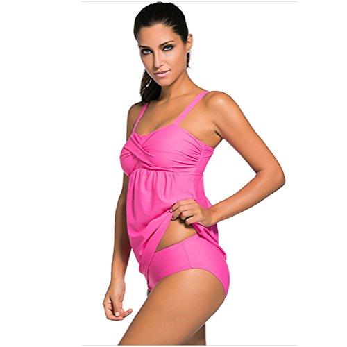 Pezzi Fionda Raccogliere Tankini up Benda Set Uv Costume Sexy Spiaggia Xl Boyleg Da Abiti Solare Protezione Raggi Due Pink Push Bagno Donna xxl Zhang1 SqEvt