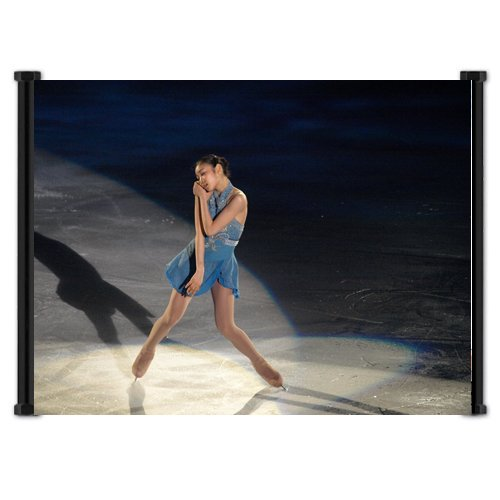 Kim Yu-Na Gold Medalist Figure Skater Fabric Wall Scroll Poster (21″x16″) Inches