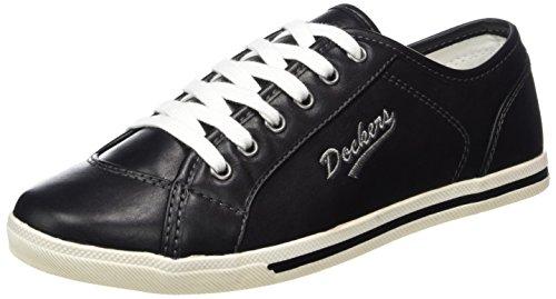 Dockers by Gerli Women's 27ch221-610100 Low-Top Sneakers, Black (Schwarz), 4 UK