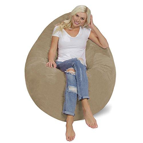 41Nw7nr9 jL - Chill-Bag-Huge-Memory-Foam-Bean-Bag-Pillow-Camel