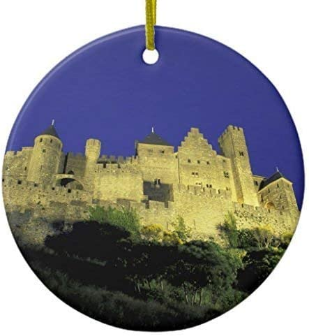 Idioma francés Carcassonne cerámica Ornamento Círculo Diseñado: Amazon.es: Hogar