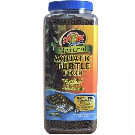 Zoo Med Natural Aquatic Turtle Food Hatchling Formula (15 oz)
