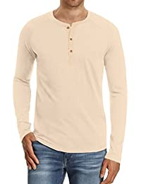 "<span class=""a-offscreen"">[Sponsored]</span>Men's Cotton Casual Slim Fit Henley T-Shirts"
