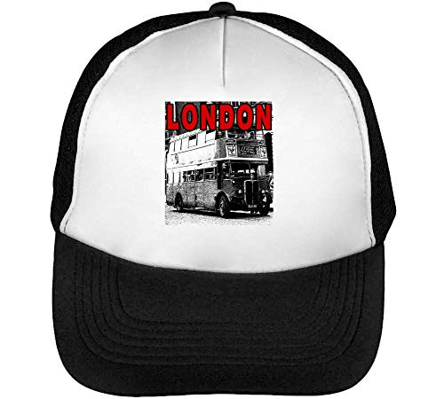Snapback Beisbol Negro Blanco Red Fonted Hombre Gorras Vintage IRP87qwZ