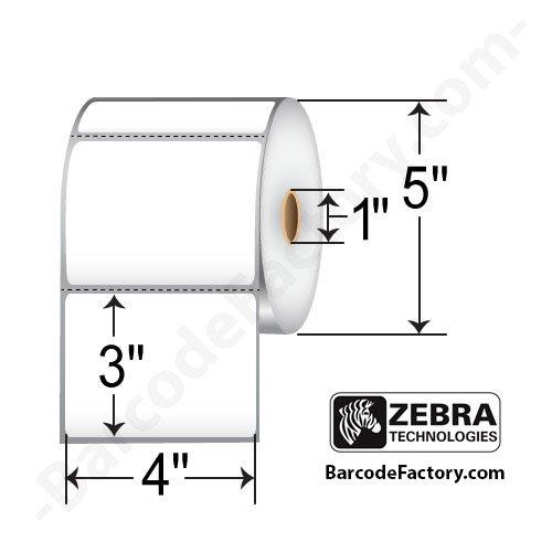 Z-perform 2000t Thermal Transfer Labels ((10005852) Zebra 4x3 Z-Perform 2000T Thermal Transfer Label [1