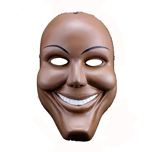 The Purge Smile Mask (YUFENG Men Resin Scary Smile Face Halloween Mask The Purge Anarchy Movie Costume)
