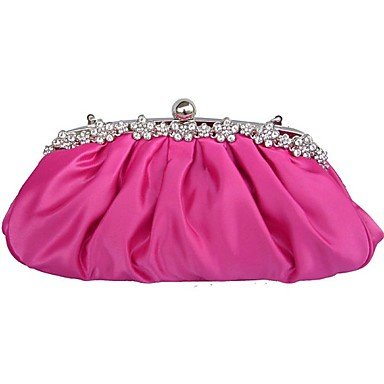 Bag Satin Ruby Evening Women Wedding Fyios Fuchsia azt6qxx0