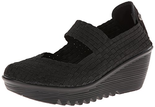 Bernie Mev Women's Lulia Wedge Sandal, Black, 40 EU/9.5-10 M US