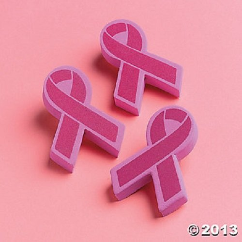 (Fun Express 12 Breast Cancer Awareness Car Antenna Toppers )