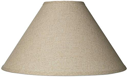 Burlap Empire Lamp Shade Rustic Fabric with Harp 6x19x12 (Spider) - Brentwood ()