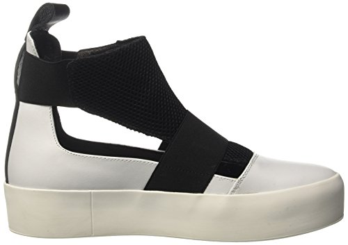 Bikkembergs Pow-Er 878, Sneaker a Collo Alto Donna Bianco (White/Black)