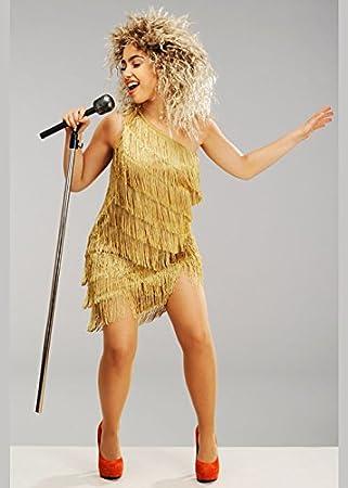 Magic Box Disfraz de Tina Turner Estilo años 80 para Mujer con ...