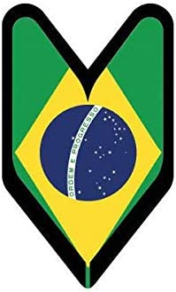 Brazilian Driver Badge Sticker Decal Vinyl wakaba leaf soshinoya Brazil BRA BA