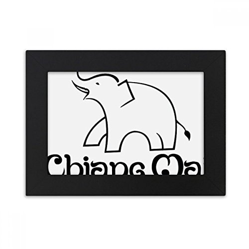 DIYthinker Thailand Easy Elephant Shield Desktop Photo Frame Black Picture Art Painting 5x7 inch by DIYthinker