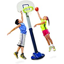 Little Tikes Adjust and Jam Pro Basketball Set, Blue
