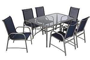 Cosco 88647BGPE Outdoor Living Patio Dining Set, Gray