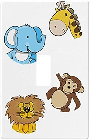 Jungle Safari Animals Wallplate Switch Plate Cover Single Toggle Amazon Com