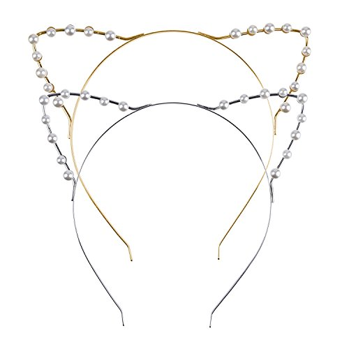 Mudder Pearl Headband Pieces Silver