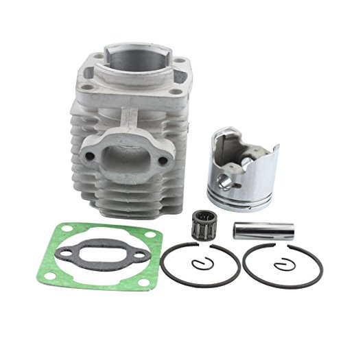 GOOFIT 40mm Bore Cylinder Kit with Piston for 2 Stroke 47cc 49cc Pocket Bike Mini Quad Chain (Pocket Bike Piston)
