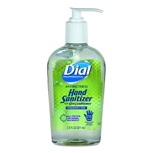 Dial Professional 01585 Antibacterial Gel Hand Sanitizer with Moisturizers, 7.5oz Pump Bottle (Case of 12)