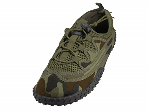 Wave Men's Waterproof Water Shoes Grn Camo-11