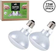 LUCKY HERP 2-Pack 25W Reptile Heat Bulb, Basking Spot Heat Lamp for Reptiles, Amphibian, Chicks, Dog Heating U