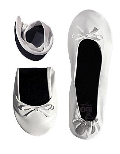 Faltbare Ballerinas Schuhe von Ballerina2Go - rollbare Wechselschuhe Afterparty flache Schuhe guenstig zum mitnehmen Schuhe zum falten Slipper Flats