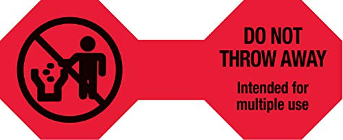 Do Not Throw Away Cord Label, 5'' x 2''