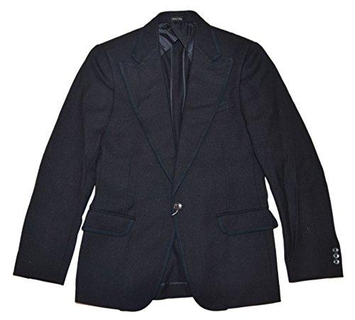 (Ralph Lauren Polo RRL Men Vintage Twill Wool Blazer Sport Coat Jacket Black Italy 40R)