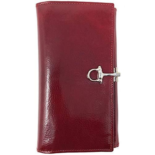 Floto Venezia Checkbook Clutch Wallet in Tuscan Red