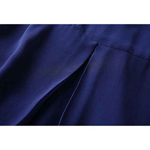 Dress Irregularity Women`s Dresses Neck Scoop cotyledon Solid Half Color Sleeve 1qCZFBnw