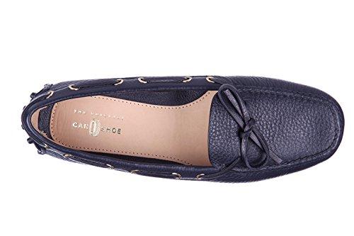Car Shoe mocasines en piel mujer nuevo blu