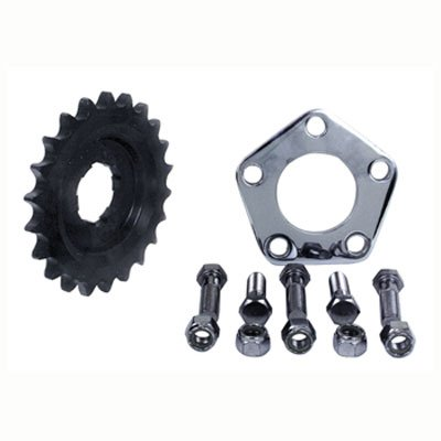 V-Factor Offset Transmission Sprocket Kit For Harley-Davidson Big Twin 4 Speed (Sprocket Skull)