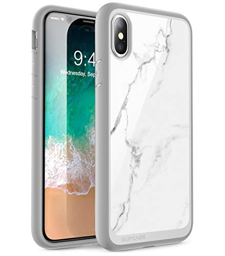 SupCase [Unicorn Beetle Style Case Designed for iPhone Xs Max, Premium Hybrid Protective Clear Case for iPhone Xs Max 6.5 inch 2018 Release (Marble)