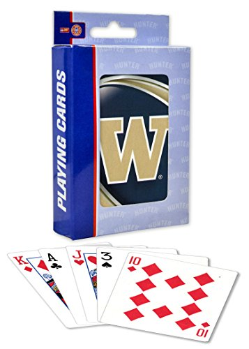 MasterPieces NCAA Washington Huskies Playing Cards, White, One Size by MasterPieces
