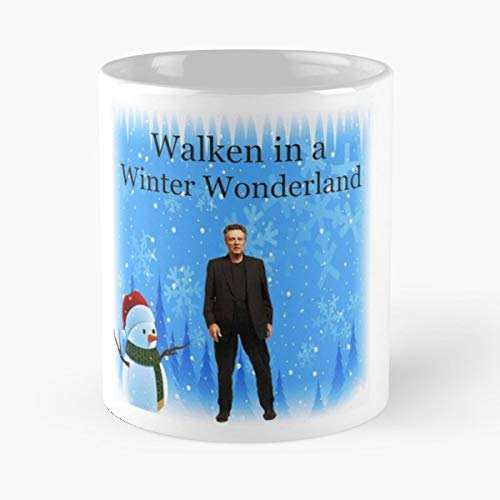 Walken In A Winter Wonderland Christopher - 11 Oz Coffee Mugs Unique Ceramic Novelty Cup, The Best Gift For Halloween.