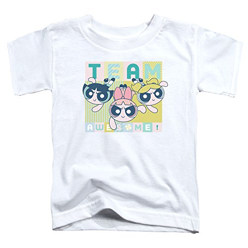 Trevco Powerpuff Girls Awesome Block Unisex Toddler T Shirt for Boys and Girls ()