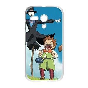 Motorola Moto G phone case Howl's Moving Castle Hard Case White 04