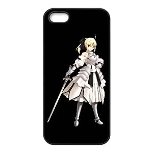 HD exquisite image for iPhone 5 5s Cell Phone Case Black saber lily fate stay night Popular Anime image WUP8091915